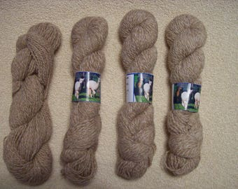 Alpaca Yarn - Beige and Fawn Girls (2 ply sport weight)