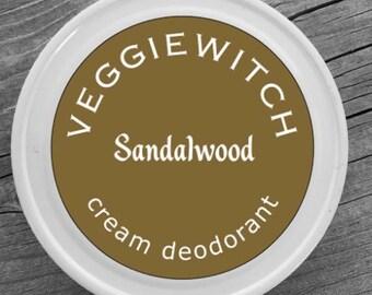 Sandalwood - Veggiewitch Cream Deodorant - All Natural - Vegan & Organic
