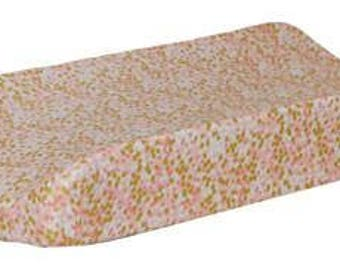 Changing Pad Cover | Coral and Gold