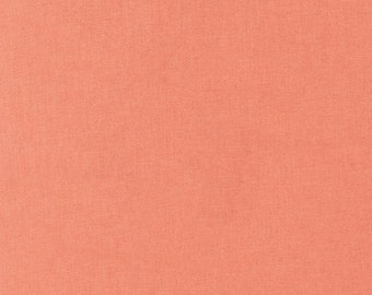 REMNANT - Kona Cotton Solid in Salmon by Robert Kaufman 7/8 of a yard!