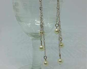 Glass Pearls on Fine Chain