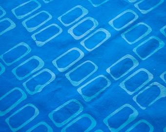 Forma:rectangles main teint et tissu de coton en bleu pâle et Turquoise à motifs