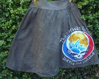 Grateful Dead Steal Your Face Scarlet Begonias Women's Batik Skirt