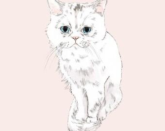 Custom DIGITAL Cat Portrait-Custom Pet Portrait-Digital-Custom Portrait-Custom Made-Wall Decor-Printable-Dog Lover-Dog Arts