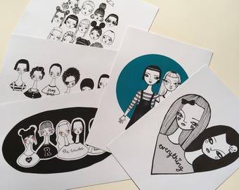 Girl Gang A4 print bundle