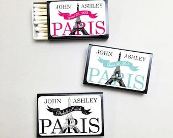 50 pcs Personalized Parisian Matchboxes (MICEPLM45)