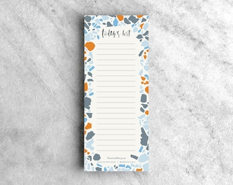To Do List Notepad, Terrazzo | Brush Lettered Memo Pad | Daily Planner, grocery list