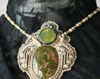 Necklace green Princess