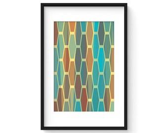 LATTICE no.18 - Giclee Print - Mid Century Contemporary Modern Abstract Modernist Geometric Art