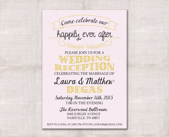 Reception party invitations selol ink reception party invitations filmwisefo
