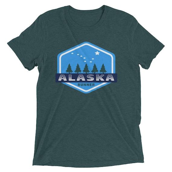 Men's Alaska Runner TriBlend T-Shirt - Run Alaska - Men's Short Sleeve Running Shirt