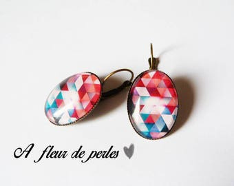 """Bronze oval earrings """"Geometrically speaking"""""""