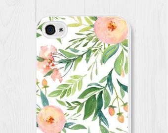 Floral iPhone Case Floral iPhone 6 Case Floral iPhone 7 Case Floral iPhone 8 Case Floral iPhone 6s Case Peach Samsung Galaxy S7 Case Cute