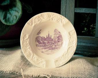 Palais Wedgewood petite plaque Williamsburg en Virginie du Vintage Original le gouverneur fait en Angleterre