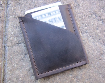 Minimalist Card Holder, Leather Card Wallet, Card Holder Leather, Handmade Card Case, Credit Card Holder, Brown Card Wallet