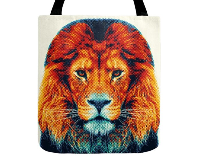 Lion Tote Bag - Colorful Animals