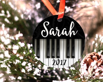 Personalized Piano Ornament Musician Christmas Gift
