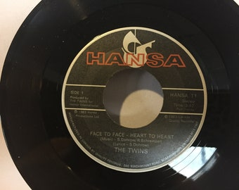 The Twins Face to Face Heart to Heart 45 RPM Vinyl New Days New Ways