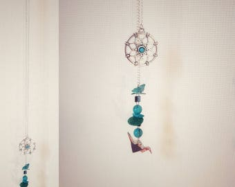 Dreamcatcher and your turquoise origami crane necklace