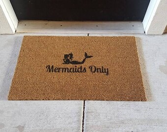 Mermaid Doormat - Magical Creature Doormat - Mystical Being - Fantasy Decor