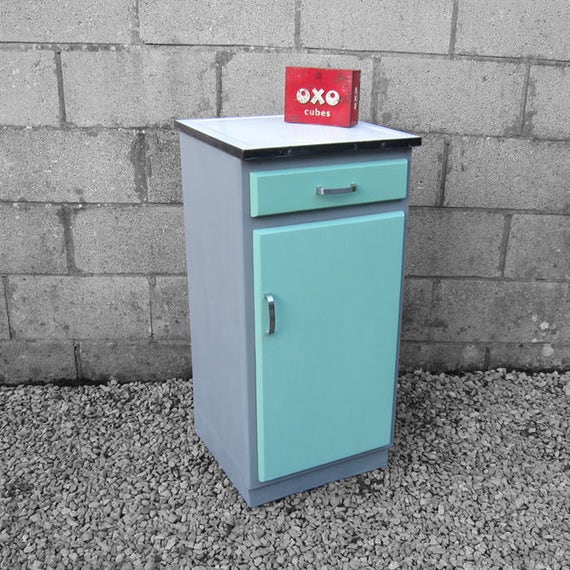 1940s Kitchen Enamel Cupboard