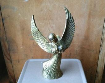 Vintage Brass Angel Candlestick Holder/ Vintage Angel Decor/ Angel Candlestick/ Angel Candlestick Holder/ Vintage Brass Angel/ Brass Angel