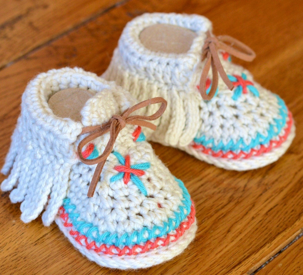 Crochet Pattern Baby Moccasins 3 Sizes Easy Photo Tutorial Digital ...