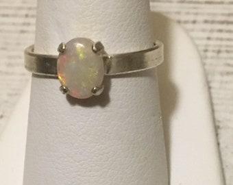 Australian Opal Ring. Size 7. Sterling Silver