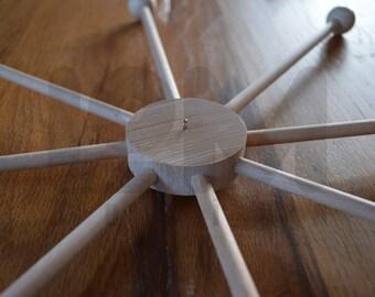 handmade wooden hanger - mobile hanger- mobile holder arm - natural wood 46 cm or 36 cm