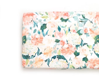 Changing Pad Cover Peaches and Cream. Coral/Orange/Peach. Change Pad. Changing Pad. Floral Changing Pad Cover.