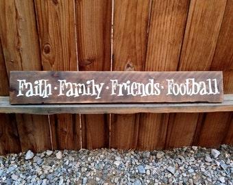 6x36 Faith Family Friends Football