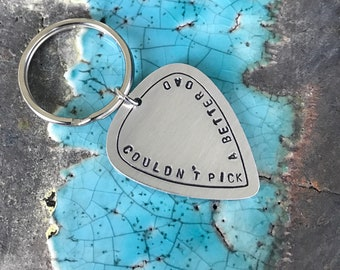 Couldn't Pick a Better Dad - Guitar Pick Keychain - Fathers Day Gift - Dad Gift