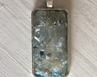 Rectangle Silver Alloy Pendant REC-2