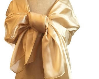 Golden Silk (organza) scarf