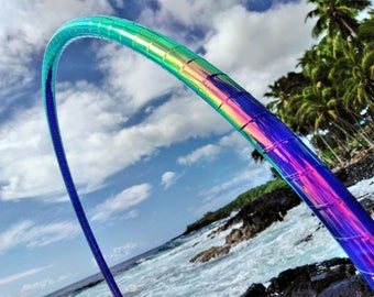 "7/8"" Urchin Melt Deco Taped Polypro Hula Hoop with Custom Diameter and Grip Options!"