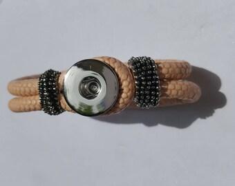 Pr 21cm long metal snap bracelets