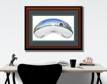 ORIGINAL ART - The Bean - Stippling - Pointillism | Chicago, Chicago Print, Millennium Park, Chicago Art, Cloud Gate, The Bean Chicago, Art