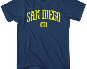 San Diego 619 T-shirt - Men and Unisex - XS S M L XL 2x 3x 4x - SD Cali Tee - 4 Colors