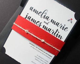 Wedding Invitation, Bridal Shower Invitation, Black and White Wedding Invitation, Heart Invitation, Adult Birthday Party Invitation