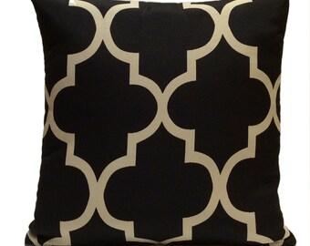 Black and Beige Pillow, Throw Pillow Cover, Decorative Pillow Cover, Cushion Cover, Pillowcase, Accent Pillow, Home Decor, Toss Pillow.