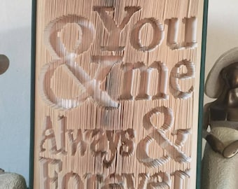 You&MeAlwaysForever - Cut and Fold PATTERN ONLY
