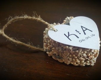 Bird Seed Ornament - 50pcs - Seed Favors - Wedding Favors - Baby Shower Favors - Bridal Shower Favors - Party Favors - Favor