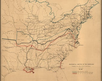 Poster, Many Sizes Available; Civil War Map Historical Sketch Of Rebellion 1862