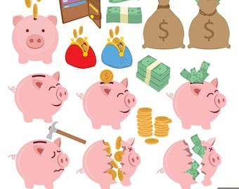 Saving Money Digital Clipart