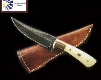 Damascus knife, Hand forged Damascus, Hand made hunting knife by Titan Td-100