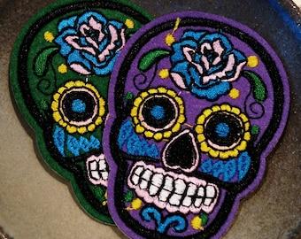 Sugar Skull Dia de los Muertos Calavera Calaveras iron on patch badge