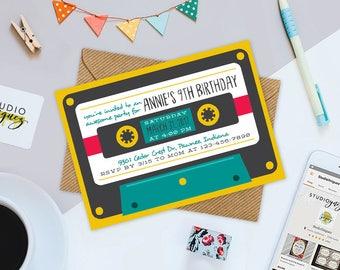 80s birthday invites Etsy