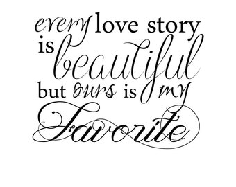 Instant Download Love Word Art Overlay Every Love Story Is Beautiful