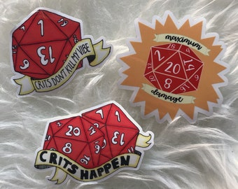 Dungeons and Dragons Sticker Set