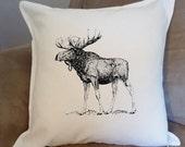 Moose Pillow Vintage Styl...